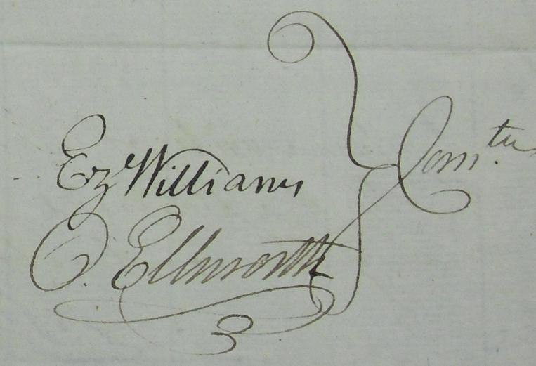 1777 Chief Justice Oliver Ellsworth Signed Revolutionary ...
