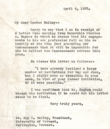 charles evans hughes 1927 autographed letter explaiining