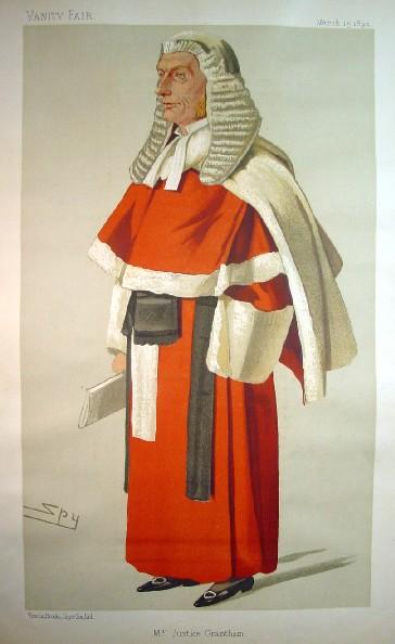 1890 Vanity Fair Red Robed Judge William Grantham