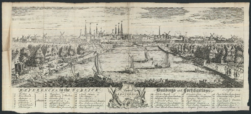 Antique Maps And Views Of The Netherlands - Antique maps amsterdam