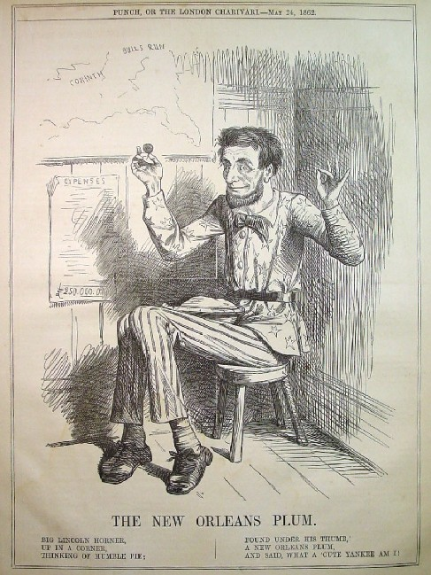 English Caricatures Of Abraham Lincoln In Punch Or The London Charivari