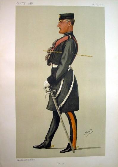 1891 Vanity Fair Spy Print Of Colonel Herbert Eaton