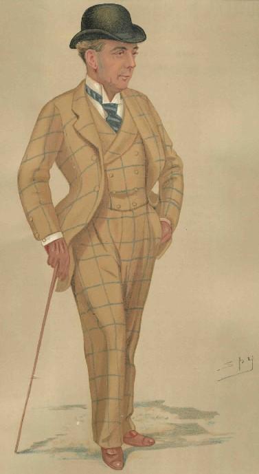 1890 Vanity Fair Spy Print Of Sandown Park Manager Hwfa
