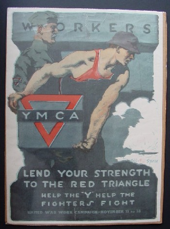 Workers Lend Your Strength To The Red Triangle Wwi Poster