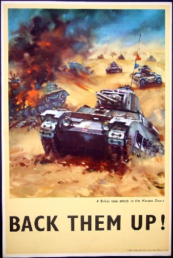 "Comments: This colorful British World War 2 poster depicts ""A British tank"